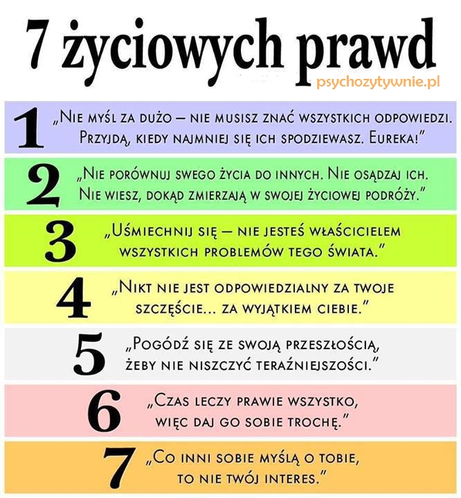 7 życiowych prawd